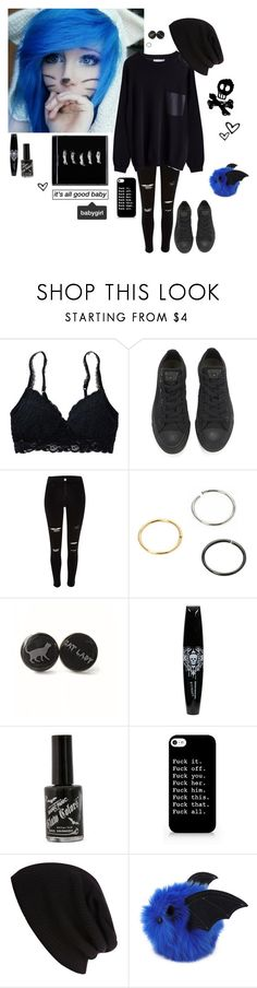 """End The Madness"" by emokittyyy ❤ liked on Polyvore featuring Aerie, Converse and River Island"