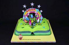 Trolls Scrapbook cake