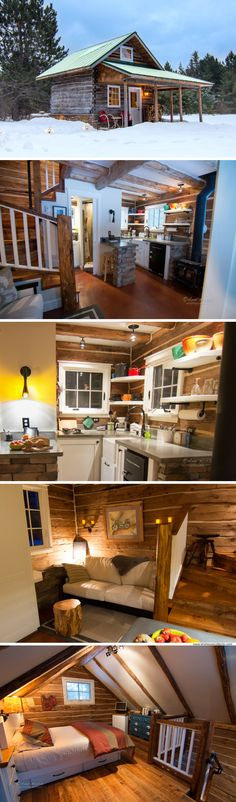 Gate Log Cabin A cabin, available for rent in Minnesota!A cabin, available for rent in Minnesota! Tyni House, Tiny House Cabin, Tiny House Living, Tiny House Design, Cabin Homes, Small House Plans, Log Homes, Tiny Homes, Tiny Cabins