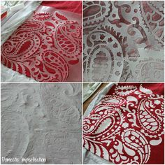 tutorial on stenciling fabric