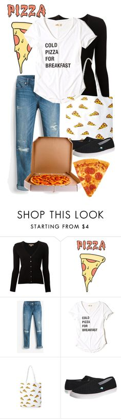 """""""Cold Pizza for Breakfast"""" by underwater-city ❤ liked on Polyvore featuring Michael Kors, Retrò, White House Black Market, Hollister Co., Forever 21 and Roxy"""
