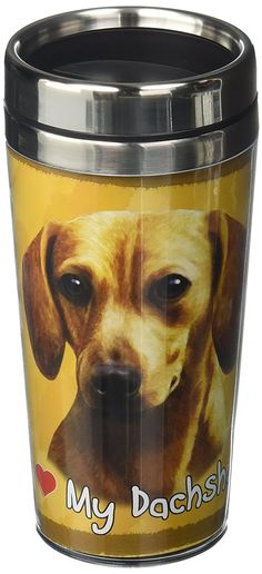 EandS Pets Stainless Steel Dachshund Red Tumbler, 16 oz -- Details can be found by clicking on the image. (This is an Amazon affiliate link)