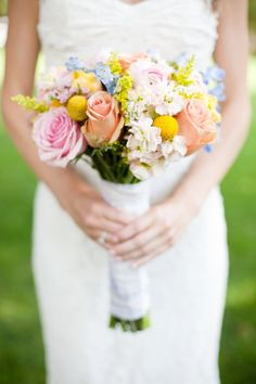 Romantic Rainbow :: Bride's rainbow bouquet