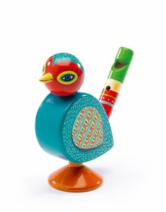 Djeco ~ Bird Whistle Wooden Bird, Wooden Toys, Music Bird, Musical Toys, Christmas Gifts For Kids, Christmas 2017, Holiday Gifts, Paint Designs, Box Design