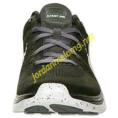 Black Dark Charcoal 554887 310 Nike Flyknit Lunar 1 Mens Sequoia White