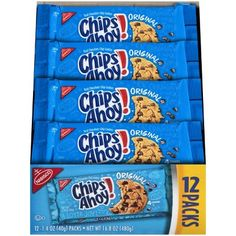 Chips Ahoy Cookies, Yummy Cookies, Crispy Chocolate Chip Cookies, Chocolate Chips, Honey Maid Graham Crackers, Cookie Packaging, Kosher Recipes, Cookie Tray, Party Desserts