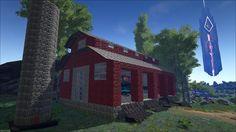 More click [. Base Building, Building A House, Building Ideas, Green House Design, Modern House Design, Game Ark Survival Evolved, Adobe House, Pen Design, Winter Cabin