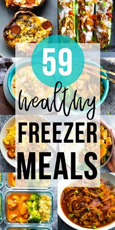 More than 38 healthy freezer meals for dinner - these are perfect for new moms, or just busy people in general. Whether you're stocking your own freezer, or prepping for a friend or family member, these recipes will keep dinnertime as easy as possible! Freezer Friendly Meals, Slow Cooker Freezer Meals, Make Ahead Freezer Meals, Freezer Cooking, Freezer Recipes, Meal Prep Freezer, Freezer Dinner, Budget Recipes, Meals Good For Freezing