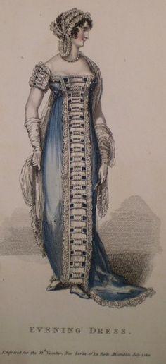 1812 July Evening Dress