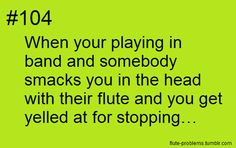 Flute Problems...I do this to people sometimes on accident It's so hard to navigate while holding shiny metal sticks of death~