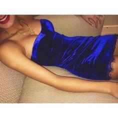 Dress: velvet, christmas, party dress, girl, blue dress, velvet ...