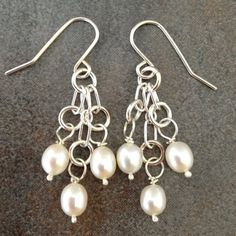 Sterling+Silver+and+Pearls+Earrings