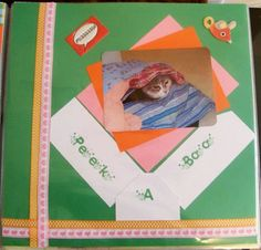 """Peek A Boo"" Scrapbook layout 12x12"