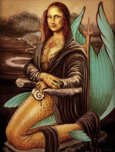 Exposição traz 30 versões de arte digital para a Mona Lisa de Da Vinci Mona Lisa More Pins Like This At : FOSTERGINGER @ Pinterest