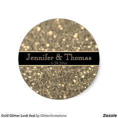 Shop Gold Glitter Look Seal created by GlitterInvitations. Glitter Invitations, Gold Glitter, Seal, Artwork, Beautiful, Art Work, Work Of Art, Auguste Rodin Artwork, Dolphins