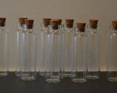 Round Bottom Tiny Small Glass Vial Bottles w by KilnFiredDiffusers