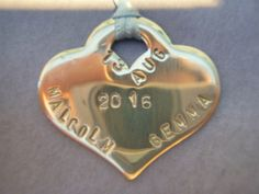 Handstamped bridal token. Can be tied to the brides bouquet, then retained as a keepsake and worn as a pendant. Made of pewter, smoothies and stamped. (Facebook page- Mums Jewellery Shed)