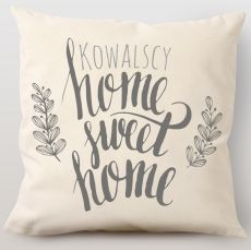 Poduszka personalizowana HOME SWEET HOME idealny na urodziny