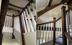 A single wider staircase featuring stop chamfered newels and spindles. Our customer chose to prime and stain elements of the staircase to compliment the style of the rest of the property.