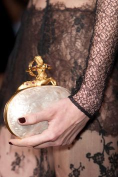 look at the clasp of the clutch of Valentino  Fall 2013 Couture