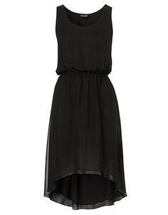 Chiffon Dip Hem Dress, Topshop