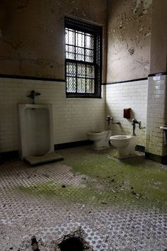 Secure Bathroom - Photo of the Abandoned Norwich State Hospital