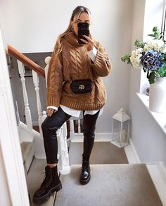 Fantastico trendy winter outfits to help to level up your winter style 21 ~ thereds.me Grande Grande trendy winter out. Stylish Winter Outfits, Winter Fashion Outfits, Fall Winter Outfits, Look Fashion, Autumn Winter Fashion, Trendy Outfits, Womens Fashion, Winter Style, Cold Day Outfits