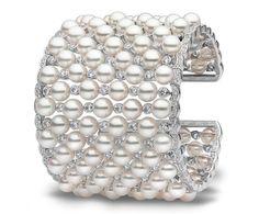 Yoko London Akoya pearl and diamond cuff bracelet | JCK On Your Market @yoko_london