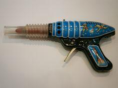 Vintage Tin Toy Space Ray Gun Astronaut Cosmonaut Pistol Friction   eBay