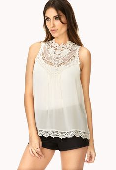 Classic Crocheted Lace Blouse