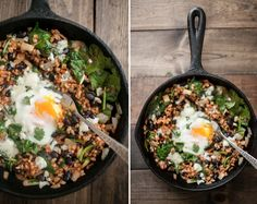 black bean skillet from Naturally Ella, featured on Unruly Things (for the slow carb-ers)