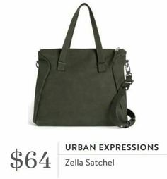 I'd love to try this bag that's convertible from the shoulder to a crossbody. -E Urban Expressions Zella Satchel