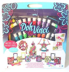 Play-Doh Doh Vinci Ultimate Design Suite (13 Project Mega Set including A Flower Tower Frame & Two Door Decors) DohVinci http://www.amazon.co.uk/dp/B00PIPXFZO/ref=cm_sw_r_pi_dp_wRNdwb0EVWKK9