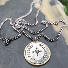 a540ad301835 Coordinates 14K and Silver Pendant. DeAnna Cochran Jewelry