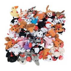 Plush Exchange Mini Bean Bag Animal Assortment - OrientalTrading.com