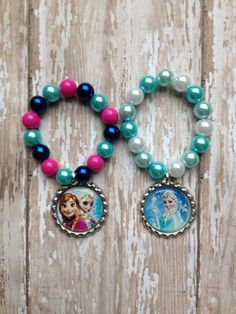 Frozen bracelet.. Elsa bracelet.. Anna bracelet .. Chunky bead bracelet.. Frozen…