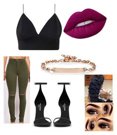 """""""♥"""" by naebewittit on Polyvore featuring Yves Saint Laurent, Hoorsenbuhs and Lime Crime"""
