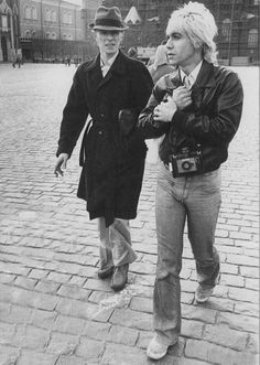 David Bowie & Iggy Pop in Berlin.