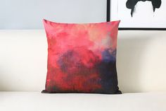 18x18 inch/Linen cotton/Pillow cover/Throw pillow/pillow case/decorative pillow/cushion cover/cushion case/colorful