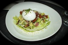 Yellow Door Bistro's – Cobb Salad - Healthy Dine Out Healthy Menu, Healthy Salads, Healthy Drinks, Healthy Recipes, Buttermilk Dressing, Yellow Doors, Pickled Onions, Bacon Bits, Food Reviews