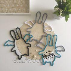 Le trio de choc de @wakemimipouce ! merci pour cette jolie commande, plein de bisous #tricotin #laine #wool #cadeau #naissance #baby #babygirl #babyboy #lapin #black #white #blue #grey #deco #babyroom #handmade #faitmain