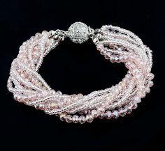 Beads Crystal Bracelet Magnetic Multilayer Bracelet by Uniquemee, $9.99