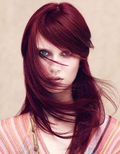 deep red burgundy hair