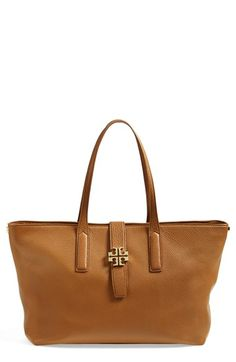 Tory Burch Leather Tote Tory Burch Sandals, Luxury Bags, Baggage, My Bags, Pebbled Leather, Preppy, Shoe Boots, Jewelry Accessories, Nordstrom