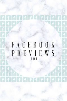 Great primer on Facebook preview photos. #tips