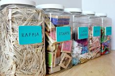 Homemade craft containers. So cute!