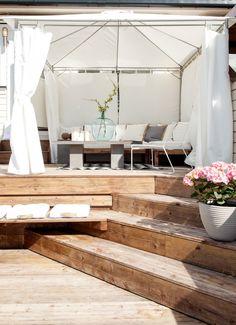 Pergola With Metal Roof Pole Barn House Plans, Pole Barn Homes, Outdoor Seating, Outdoor Spaces, Outdoor Living, Interior Exterior, Interior Design, Boho Deco, Terrace Design
