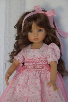 """Effner 13"""" Little Darling *SWEETLY SMOCKED* Ensemble by Ladybugs Doll Designs"""