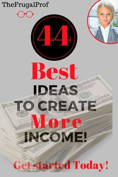 44 Best Ways to Make Money Now - The Frugal Prof : The 45 Best ways to Make Money Now! These are the Best side income ideas. Many people think the Best income idea in this list is number . Make Money Now, Earn More Money, Ways To Save Money, Make Money Online, Best Money Saving Tips, Money Tips, Saving Money, Money Hacks, Budgeting Finances