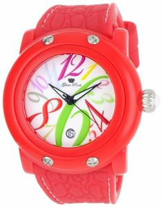Glam Rock Women's GR25001 Crazy Sexy Cool White Dial with Multi-Colored Numerals Red Silicone Watch Glam Rock. $74.00. Date function. Mineral crystal sapphire coated; Red composite case with red polycarbonate cover and stainless steel back; Red silicone strap with alligator print. Water-resistant to 330 feet (100 M). Swiss Quartz movement. White dial with black hands and multi-colored arabic numerals; Luminous; Red composite bezel; Stainless steel crown with white cabochon